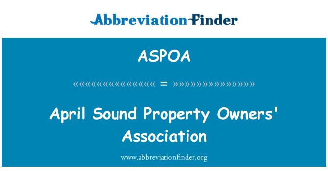 ASPOA: April Sound Property Owners' Association