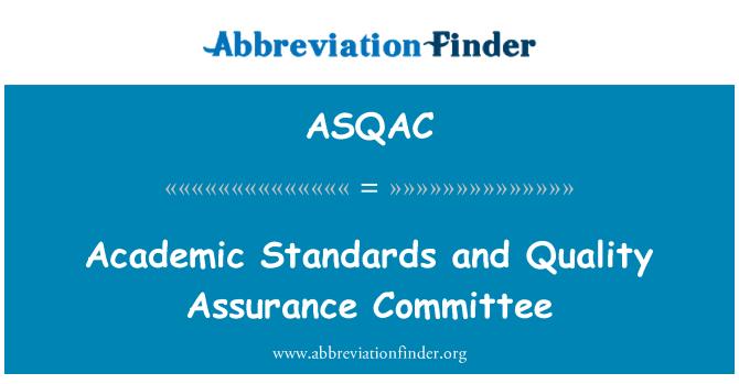 ASQAC: Normas académicas y el Comité de aseguramiento de la calidad