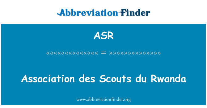 ASR: Association des Scouts du Rwanda