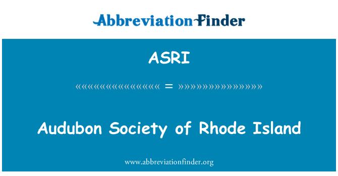 ASRI: Audubon Society of Rhode Island