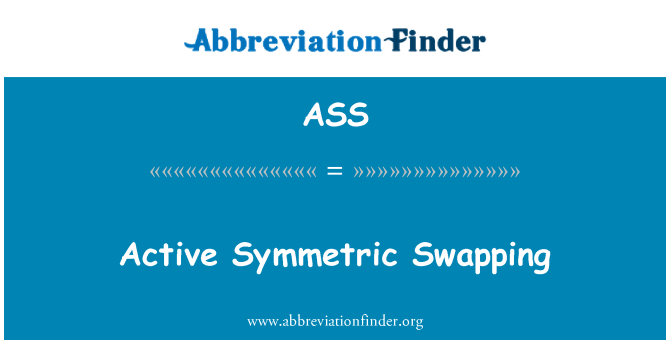 ASS: Aktiivne sümmeetriline vahetus