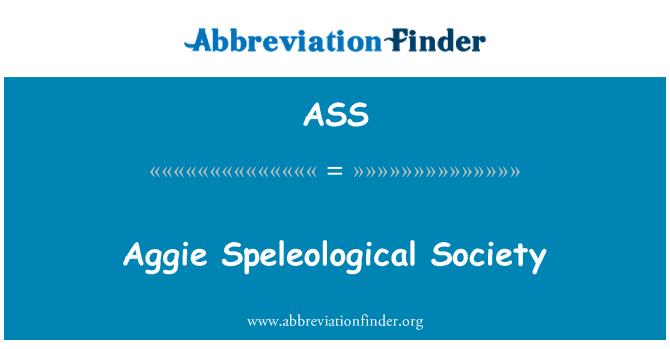 ASS: Aggie speleoloogiliste ühiskond