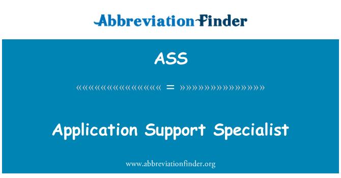 ASS: Especialista de soporte de aplicaciones