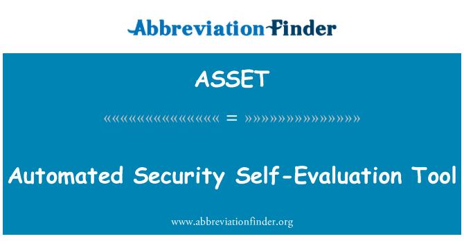 ASSET: Alat evaluasi diri otomatis keamanan
