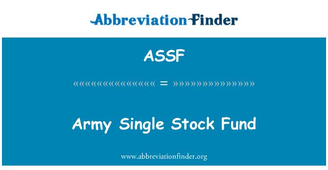 ASSF: Army Single Stock Fund