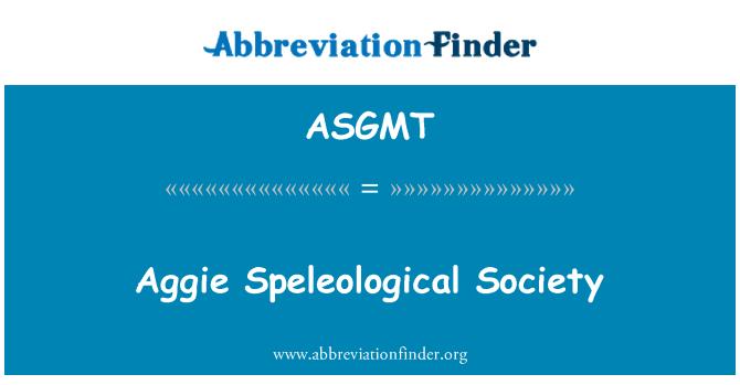 ASGMT: Aggie Speleological masyarakat