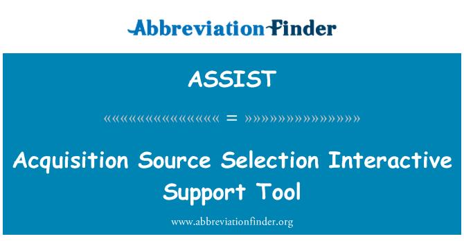 ASSIST: Herramienta de adquisición fuente selección asistencia interactiva