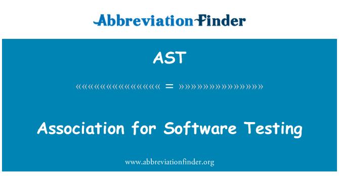 AST: Association for Software Testing