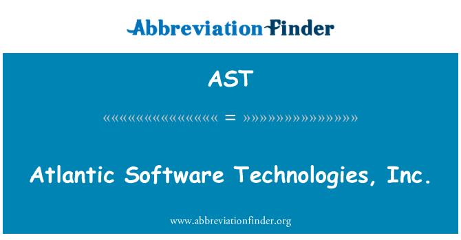 AST: Atlantic Software Technologies, Inc.