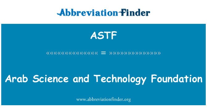 ASTF: Arab Science and Technology Foundation