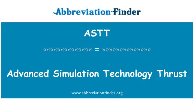 ASTT: Advanced Simulation Technology Thrust