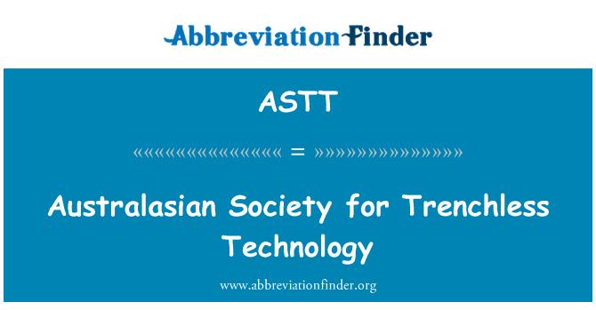 ASTT: Australasian Society for Trenchless Technology