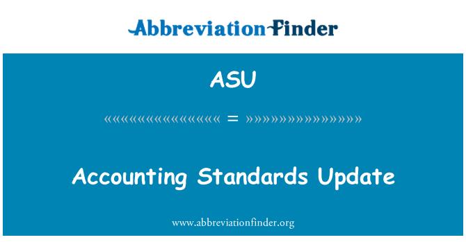ASU: Accounting Standards Update