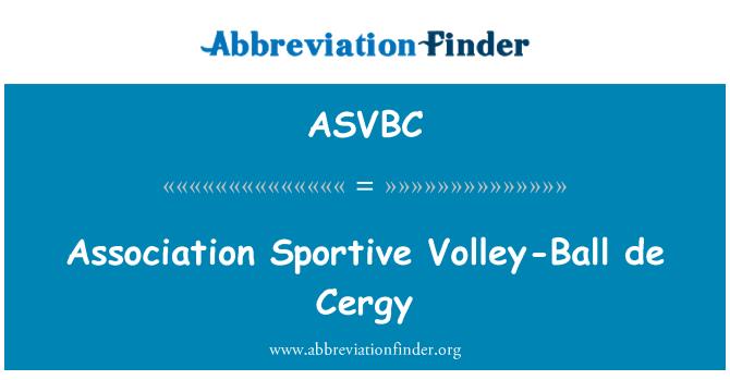 ASVBC: Association Sportive Volley-Ball de Cergy