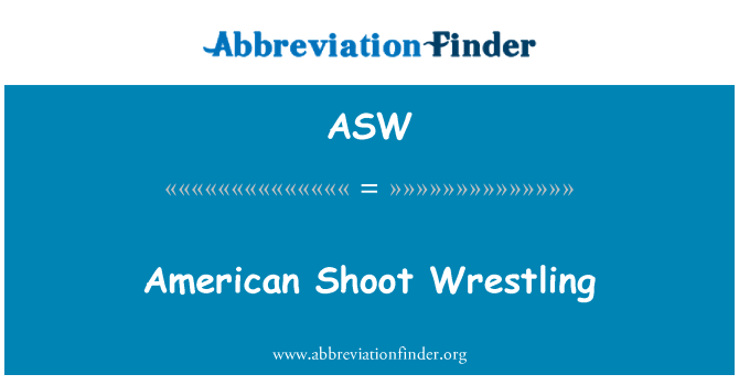 ASW: American Shoot Wrestling