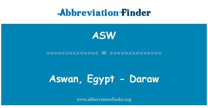 ASW: Aswan, Egypt - Daraw