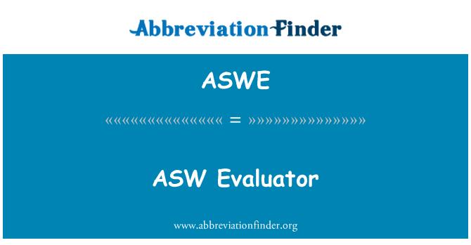ASWE: ASW değerlendirici