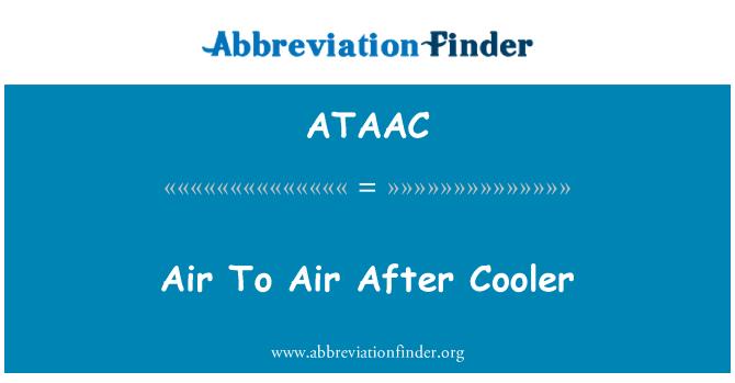 ATAAC: Air To Air After Cooler