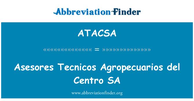 ATACSA: Asesores Tecnicos Agropecuarios del Centro SA