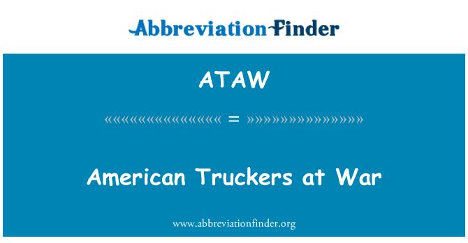 ATAW: American Truckers at War