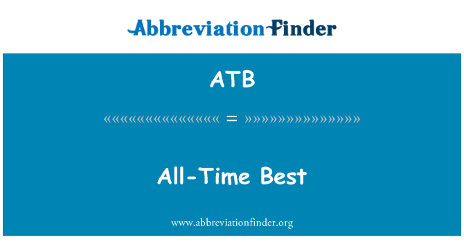 ATB: All-Time Best
