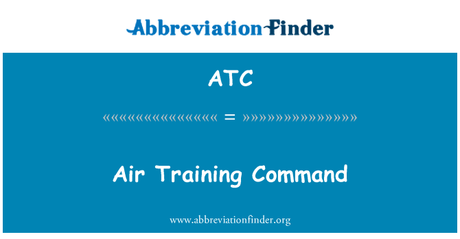 ATC: Air Training Command