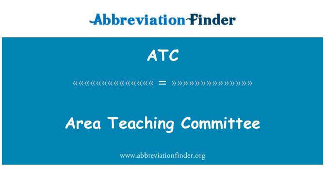 ATC: Area Teaching Committee