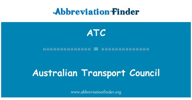 ATC: Australian Transport Council