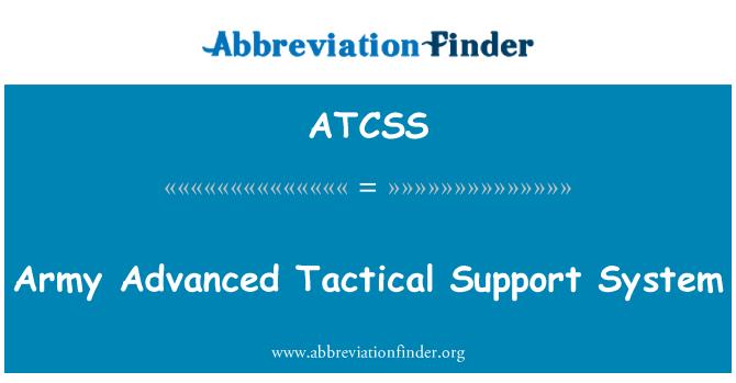 ATCSS: Ordu Gelişmiş Taktik destek sistemi