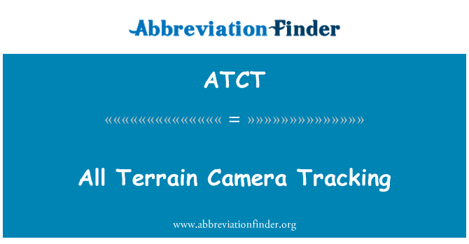 ATCT: All Terrain Camera Tracking