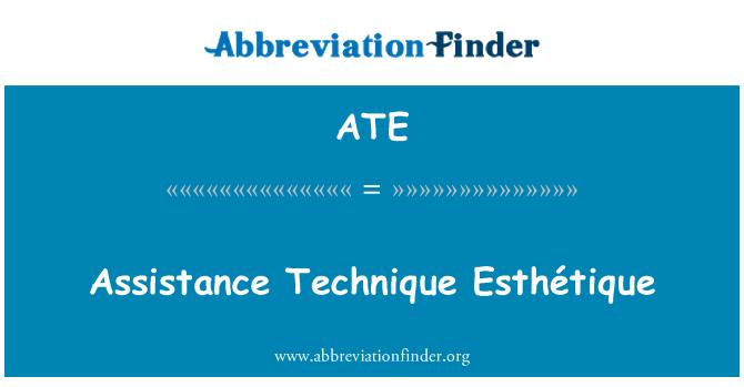 ATE: Assistance Technique Esthétique