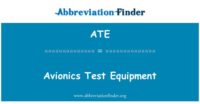 ATE: Avionics Test Equipment