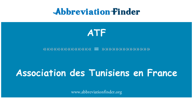 ATF: Association des Tunisiens en France