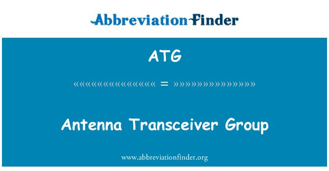 ATG: Antenna Transceiver Group