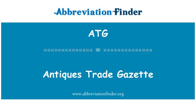 ATG: Antiques Trade Gazette