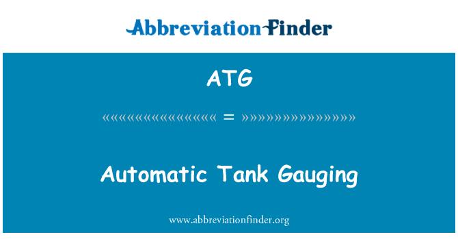 ATG: Automatic Tank Gauging
