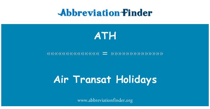 ATH: Air Transat Holidays