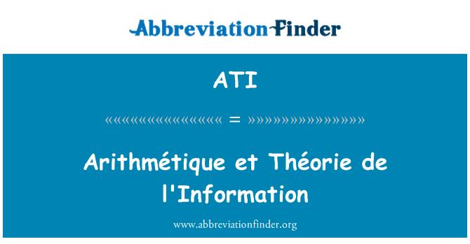 ATI: Arithmétique et Théorie de l'Information