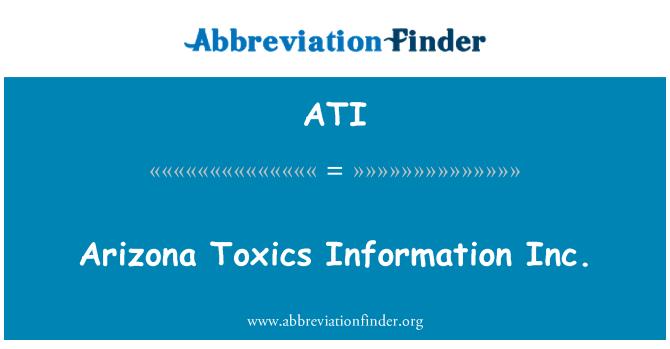 ATI: Arizona Toxics Information Inc.