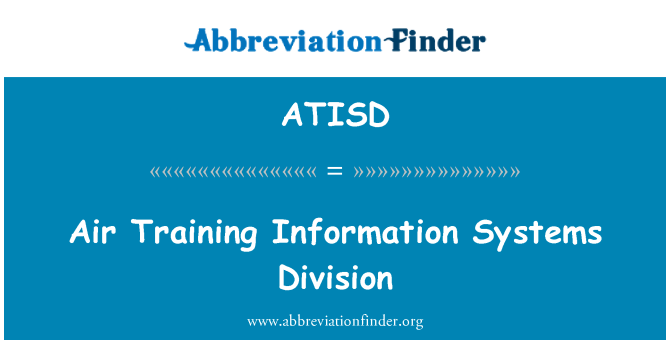 ATISD: Air Training Information Systems Division