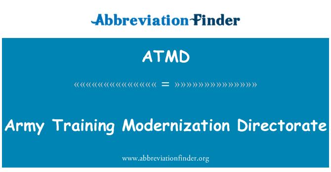 ATMD: Dirección de modernización de formación de ejército