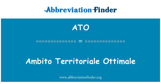 ATO: Ambito Territoriale Ottimale