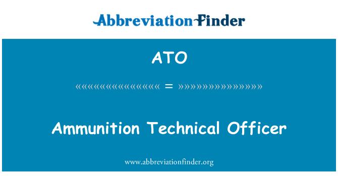 ATO: Ammunition Technical Officer