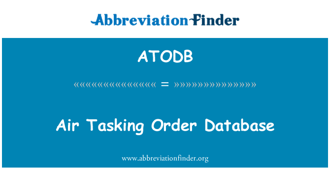 ATODB: Air Tasking Order Database