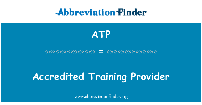ATP: Accredited Training Provider