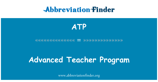 ATP: Advanced Teacher Program