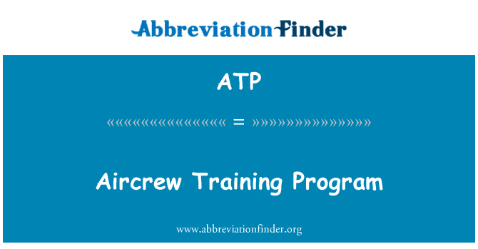 ATP: Aircrew Training Program