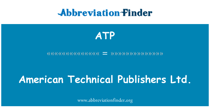 ATP: American Technical Publishers Ltd.