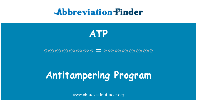 ATP: Antitampering Program
