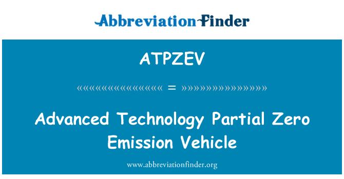 ATPZEV: Advanced Technology Partial Zero Emission Vehicle